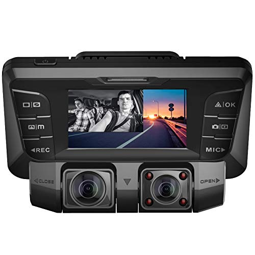 Pruveeo C2 Dash Cam with Infrared Night Vision,...