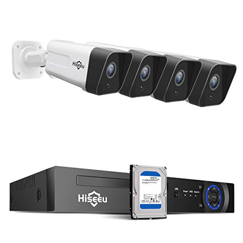 Hiseeu 5MP PoE Security Camera System, 8CH Wired...