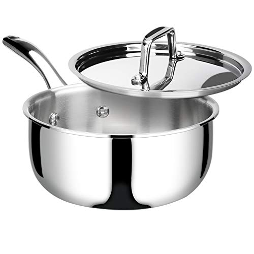 Duxtop Whole-Clad Tri-Ply Stainless Steel Saucepan...