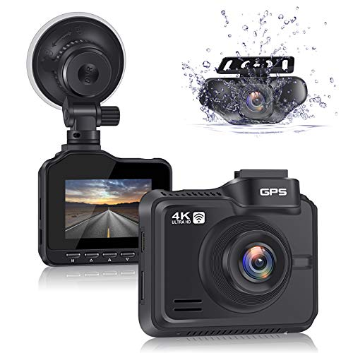 Lifechaser Dual Dash Cam 4K+1080P Front and Rear...