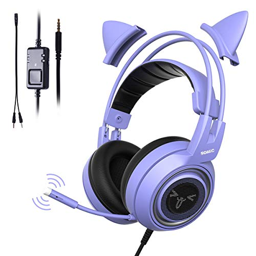 SOMIC G951S Purple Stereo Gaming Headset with Mic...
