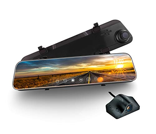 Mirror Dash Cam, weJupit 11.66 Inch Car Backup...