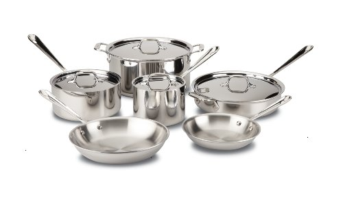 All-Clad D3 Stainless Cookware Set, Pots and Pans,...