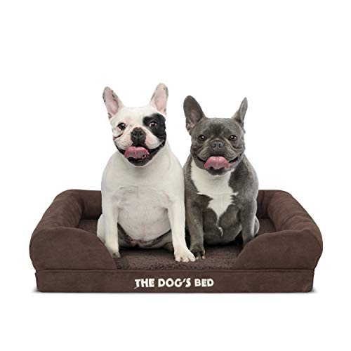 The Dog's Bed Orthopedic Dog Bed Large Brown...