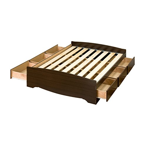Espresso Full Mate's Platform Storage Bed with 6...