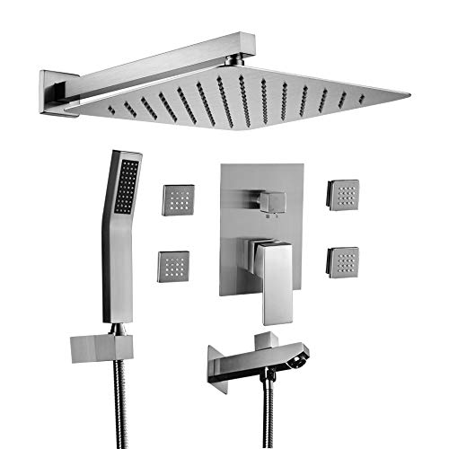 Acefy Shower Systems with Body Sprays and Tub...