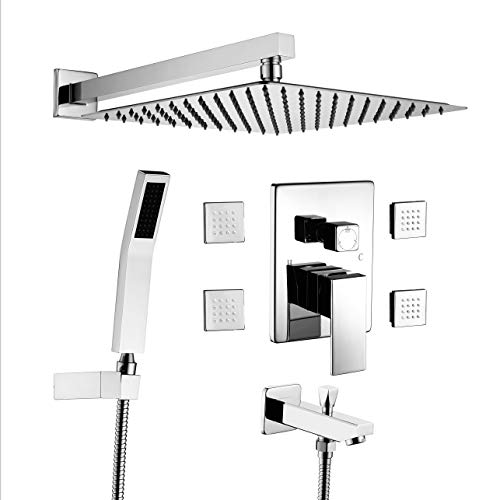 Acefy Shower Systems with Body Sprays and Tub Spout, Shower...