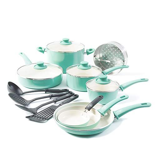 GreenLife Soft Grip 16pc Ceramic Non-Stick...