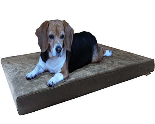 Dogbed4less Orthopedic Gel Memory Foam Dog Bed with...
