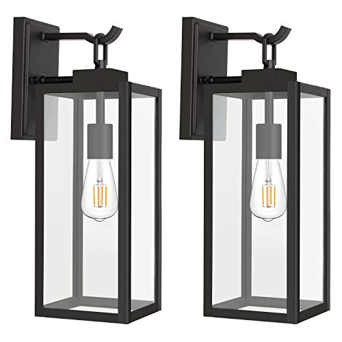 Hykolity Outdoor Wall Lantern with ST19 LED...