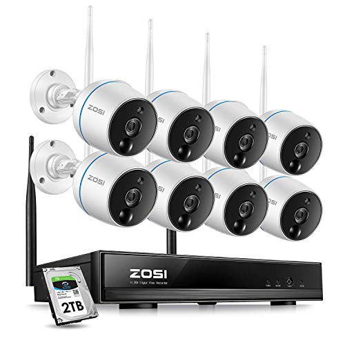 ZOSI 1080p Security Camera System Wireless for...