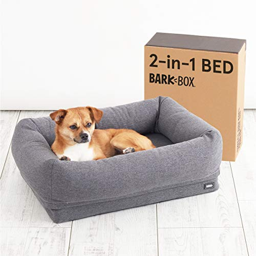 BarkBox Memory Foam Dog Cuddler Bed | Plush...