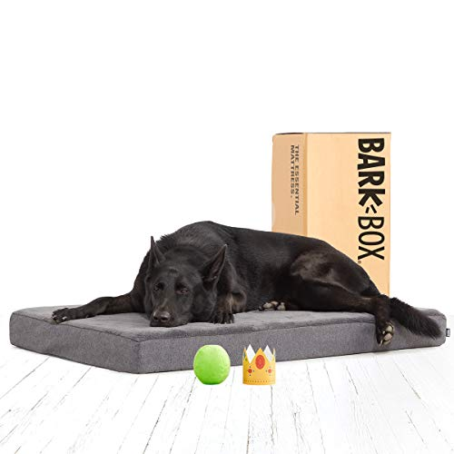 BarkBox Memory Foam Platform Dog Bed | Plush Mattress for...