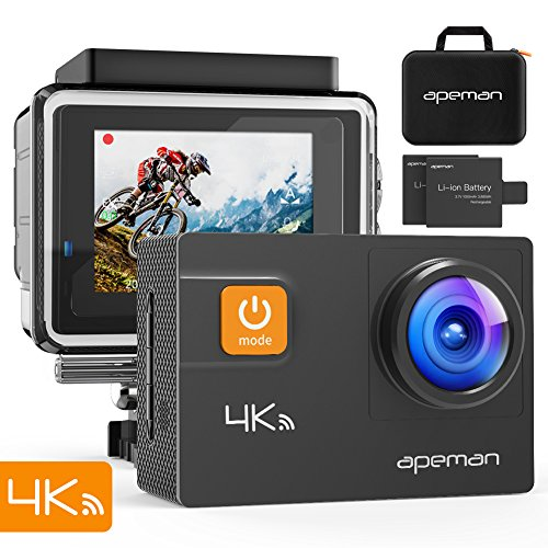 APEMAN A80 Action Camera 4K 20MP Wi-Fi Sports Cam...