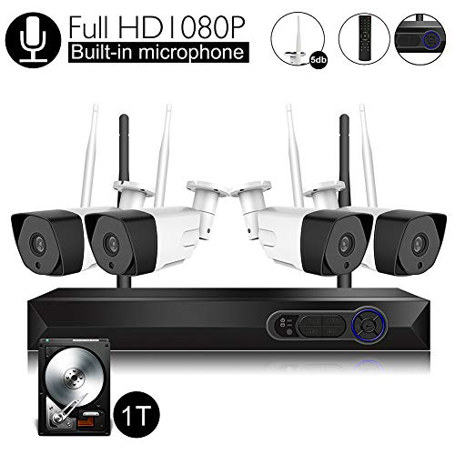Wireless Security Camera System with Audio...