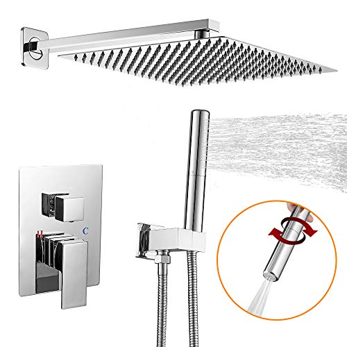 BESy Shower System with 12 Inch Rain Shower Head and...