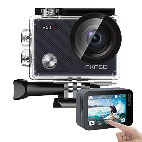 AKASO V50X Native 4K30fps WiFi Action Camera with...