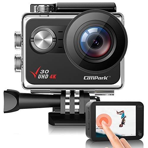 Campark V30 Native 4K Action Camera 20MP EIS Touch...