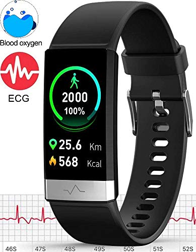 MorePro Fitness Tracker HRV,HD Color Screen...