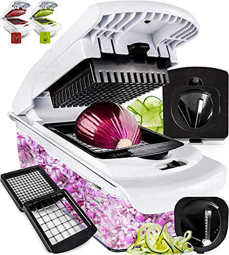 Fullstar Vegetable Chopper - Spiralizer Vegetable Slicer -...